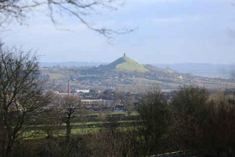View from Ivythorn Hill over Street to Tor Hill